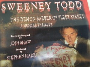 The poster for the show, that triples as playbill and ticket.